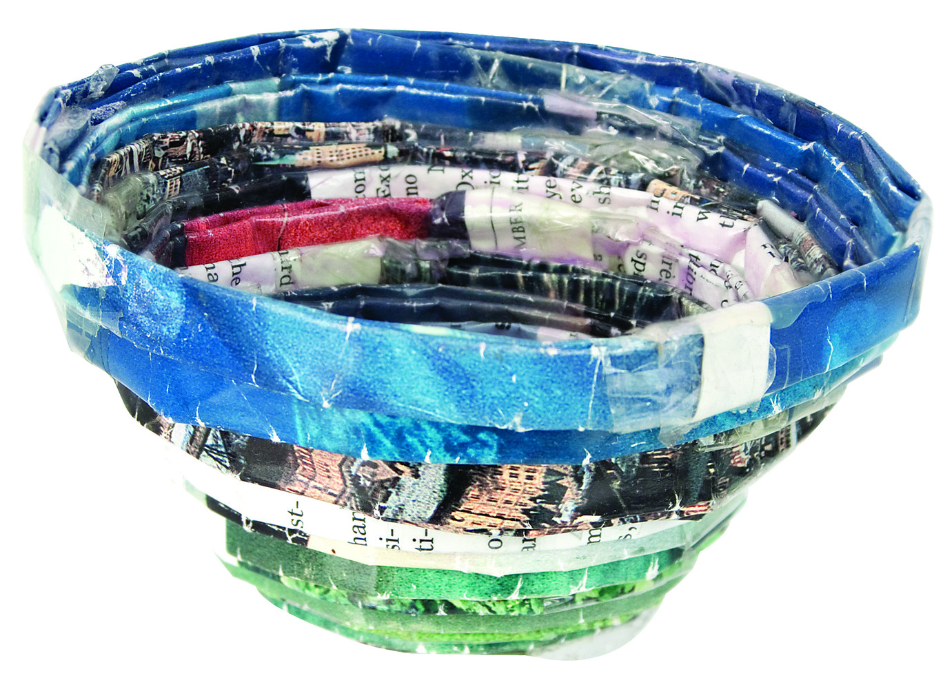 Recycled Magazine Bowls 5