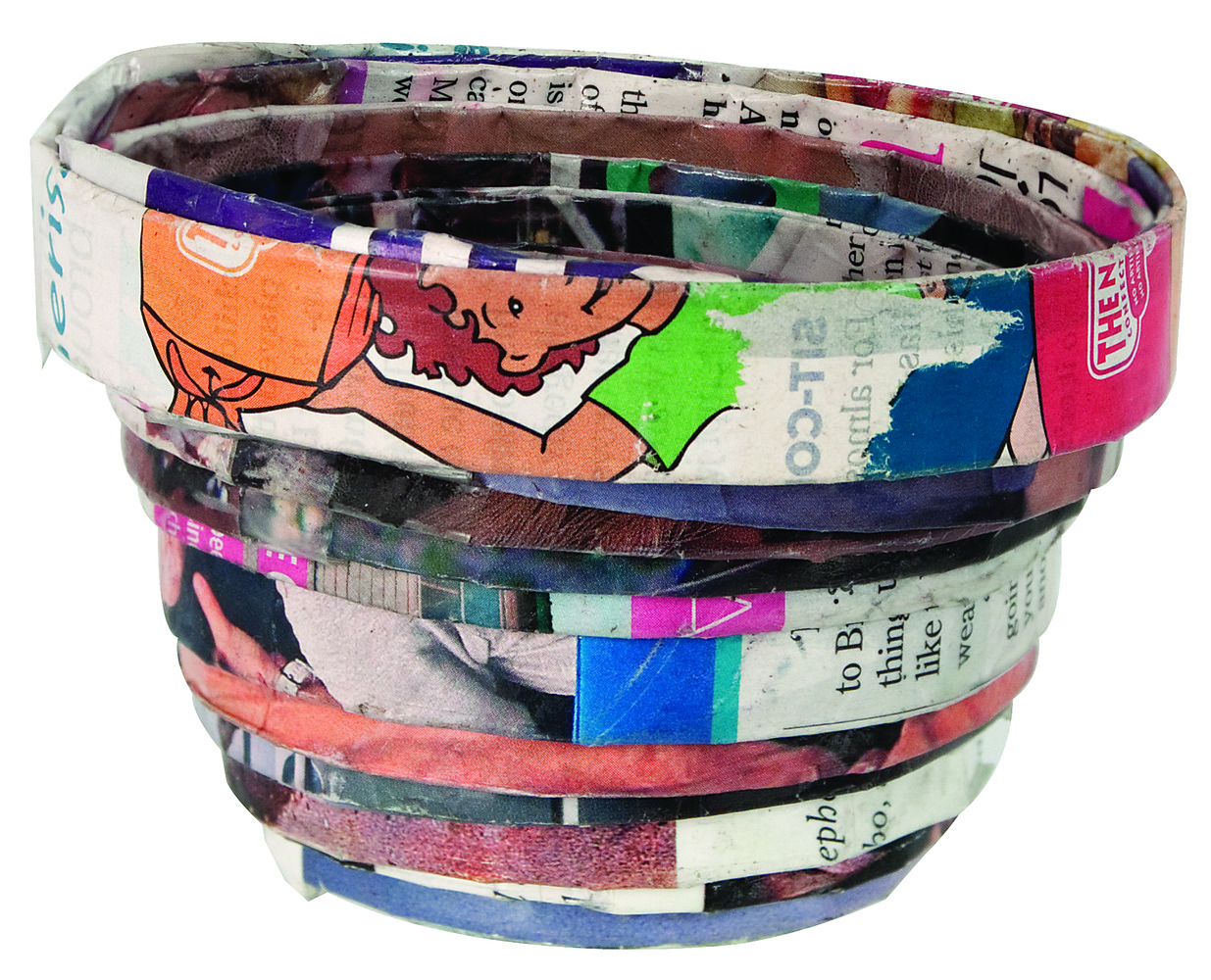 Recycled Magazine Bowls 6