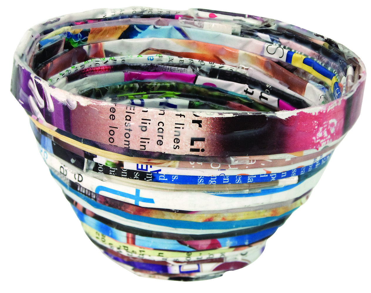 Recycled Magazine Bowls 7