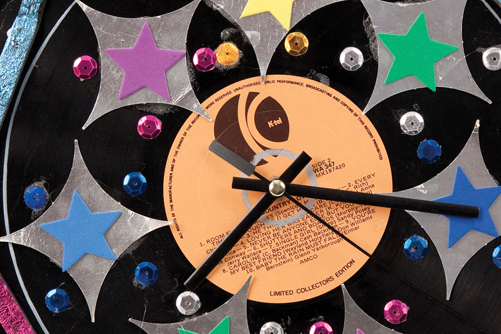 Recycled Record Clocks 1