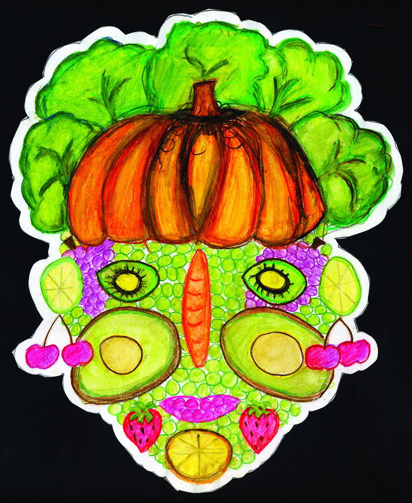 Vegetable Faces 6