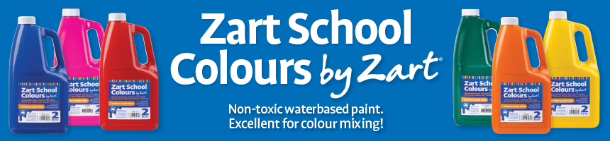Zart School Colours by Zart - Non-toxic waterbased paint. Excellent for colour mixing!
